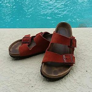 Birkenstock Burnt Orange Sandals Size 6